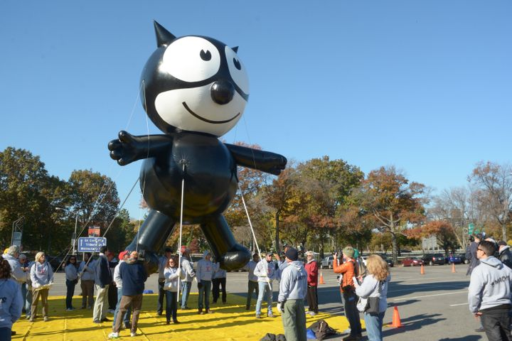 The modern version of Felix the Cat looks a lot like the original.