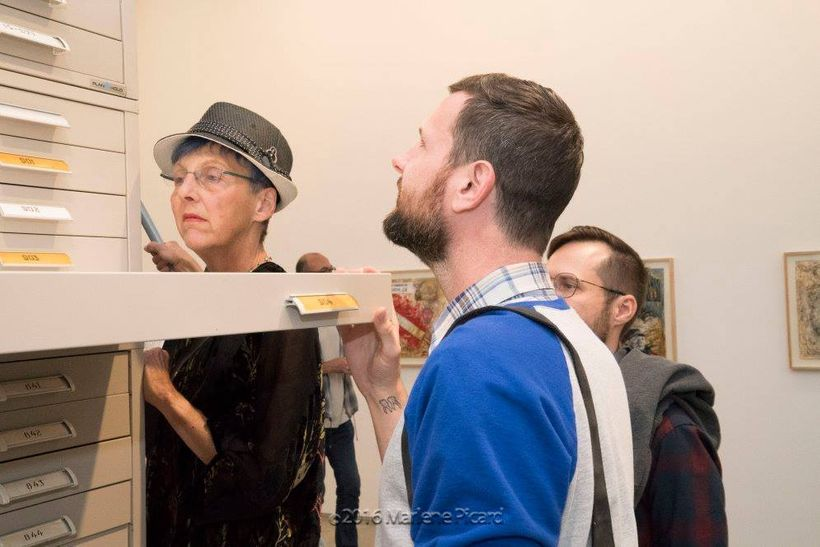 Installation inspection, Edward Cella Art & Architecture.