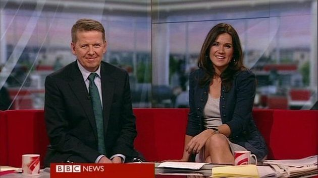 Bill and Susanna hosted 'BBC Breakfast'