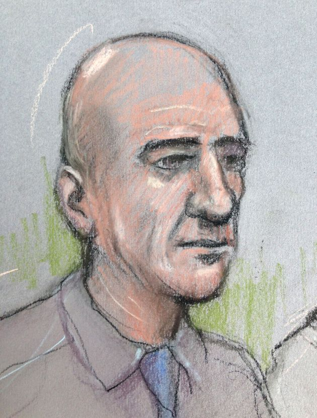 Stephen Port sketched without his distinctive blonde hair in court last