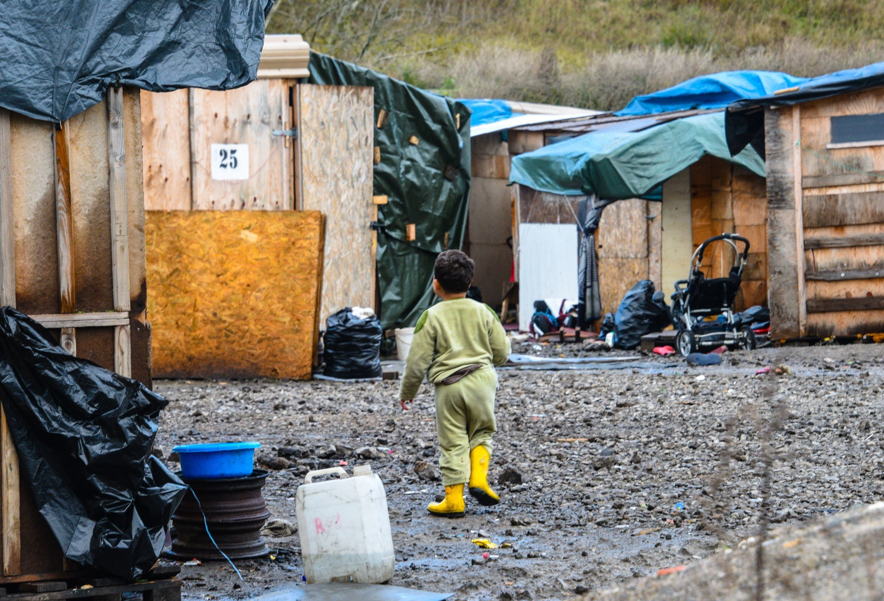Almost a third of the children who had been staying in the Calais refugee camp, pictured above,have...