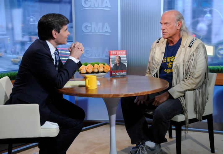 "Jesse Ventura on ""Good Morning America"" with George Stephanopoulos."
