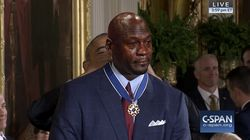 Michael Jordan Held Back Tears During The Medal Of Freedom Ceremony, And, Well,