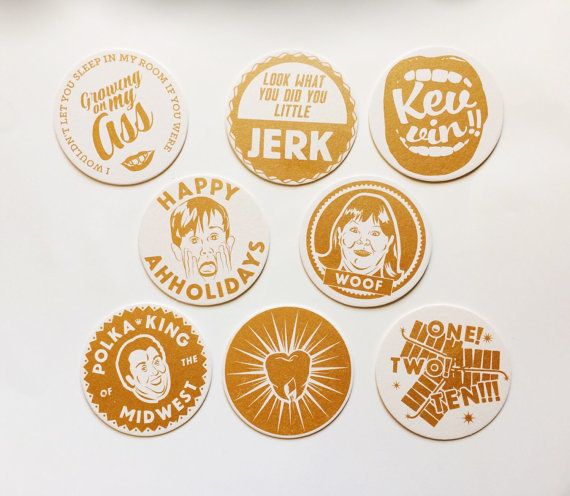 """What can we say? <a href=""""https://www.etsy.com/listing/217184881/home-alone-screen-printed-coaster-set"""" target=""""_blank"""">All o"""