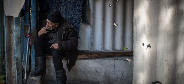 Elderly Ukrainians Are Living In Soviet-Era Bunkers After Shelling Left Them Homeless
