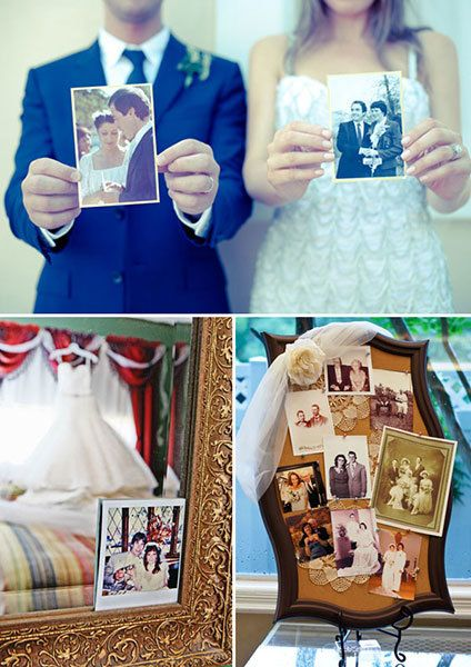 "<p><strong>8. Honor your parents&#39; marriage by incorporating their wedding-day photos.</strong>  <p>Whether it's one small photo tucked into your armoire or a dedicated corner at the sign-in table, they'll appreciate the <strong><a href=""http://www.bridalguide.com/planning/sentimental-wedding-ideas"" target=""_blank"">sentimental gesture</a></strong>. Or, have your photographer help you re-create one of their favorite shots.</p></p>"