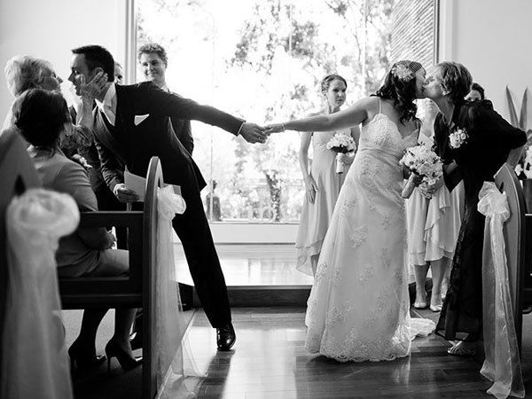 "10. Give Mom and Dad one last hug before you're pronounced husband-and-wife. Take the time to stop for one final display of affection. Just remind your parents that the officiant is waiting if they refuse to let go. <br /><br /><strong>Related:</strong> <a href=""http://www.bridalguide.com/planning/the-details/photo-video/emotional-wedding-moments#140052"" target=""_blank"">200+ Emotional Wedding Moments</a>"