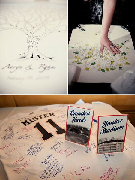 "<strong>18. Create a heartfelt guest book alternative. </strong> Your wedding day is the one time when you're surrounded by everyone who loves you, all in the same room. What better way to bottle up all of their good wishes than by preserving and displaying them in your home afterward? <br /><br /><strong>Related: </strong><a href=""http://www.bridalguide.com/planning/the-details/invitations-stationery/unique-wedding-guest-book-ideas#154747"" target=""_blank"">50 Unique Wedding Guest Book Ideas</a>"