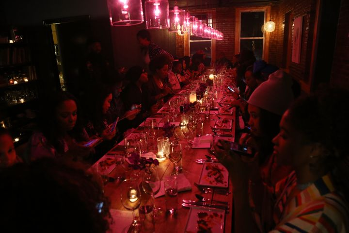 A general view of the Soul Train Soul Food Vegan Dinner Party on November 21, 2016 in New York City.