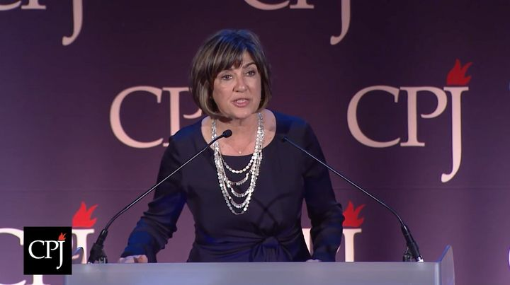 Christiane Amanpour spoke at the Committee to Protect Journalists' annual fundraising dinner on Tuesday, and said journalists need to fight for their values both at home and abroad.