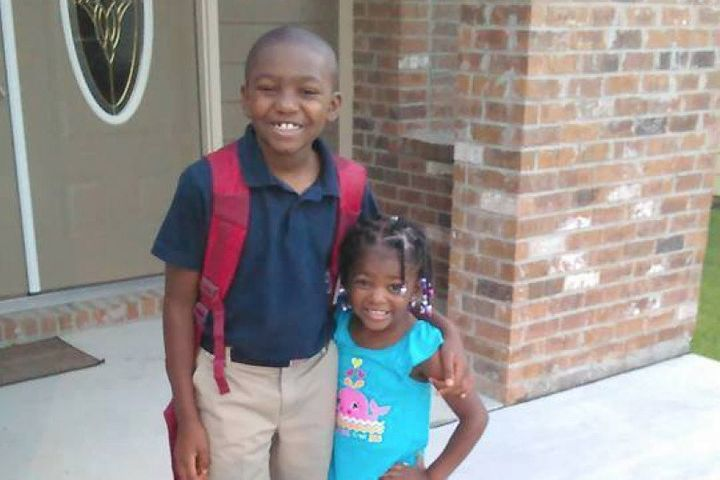 Jordan Jackson suffered from a broken arm and concussion after trying to defend his younger sister.