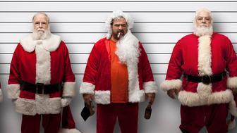 Four Real Santa's and One Bah Humbug Santa