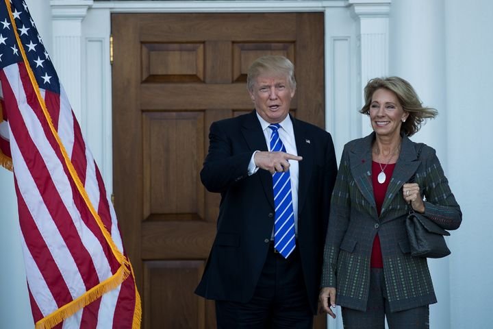 Donald Trump and Betsy DeVos met in New Jersey last week.