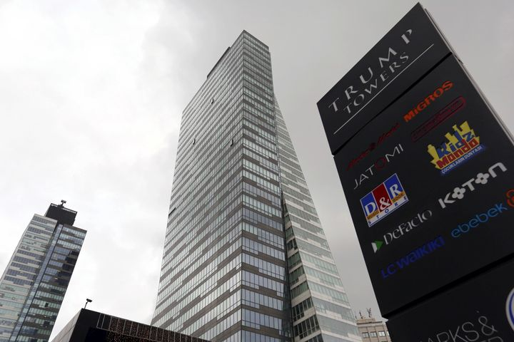 Trump Towers Istanbul are conjoined office and residence towers with a shopping mall.