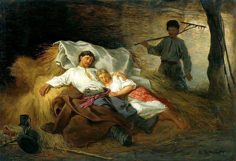 Trutovsky_Konstantin_Na_Senovale.jpg , 1872, On the Hayloft
