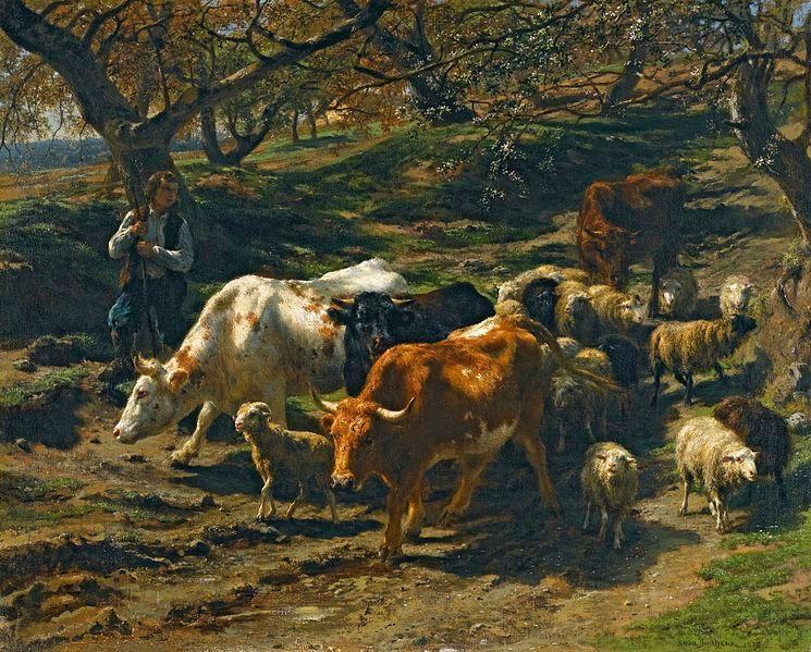 Rosa Bonheur, 1852. A shephard and his flock