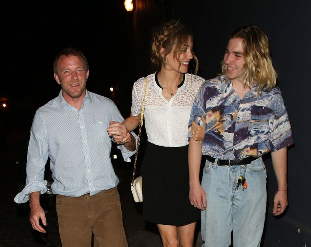 Rocco with his father Guy Ritchie and step-mother Jacqui
