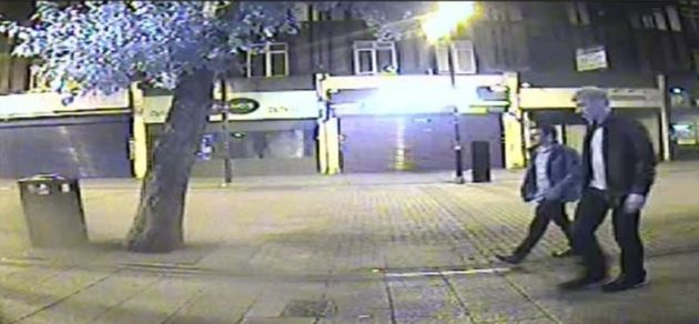 CCTV footage of Port walking back to his Barking flat with 25-year-old
