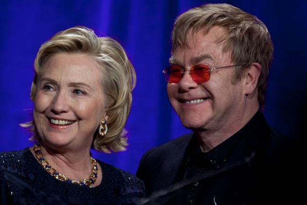 Contrary to the news, Elton John actually backed Hillary Clinton in the presidential