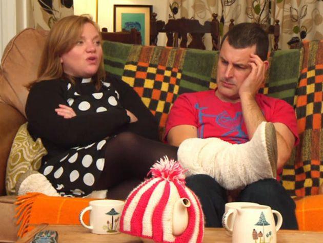 Rev Kate Bottley and her husband Graham on