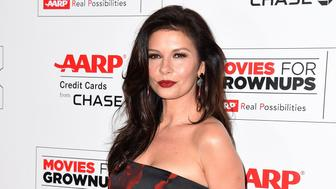 Actress Catherine Zeta-Jones arrives for the 15th Annual Movies for Grownups Awards in Beverly Hills, California, February 8, 2016. / AFP / ROBYN BECK        (Photo credit should read ROBYN BECK/AFP/Getty Images)