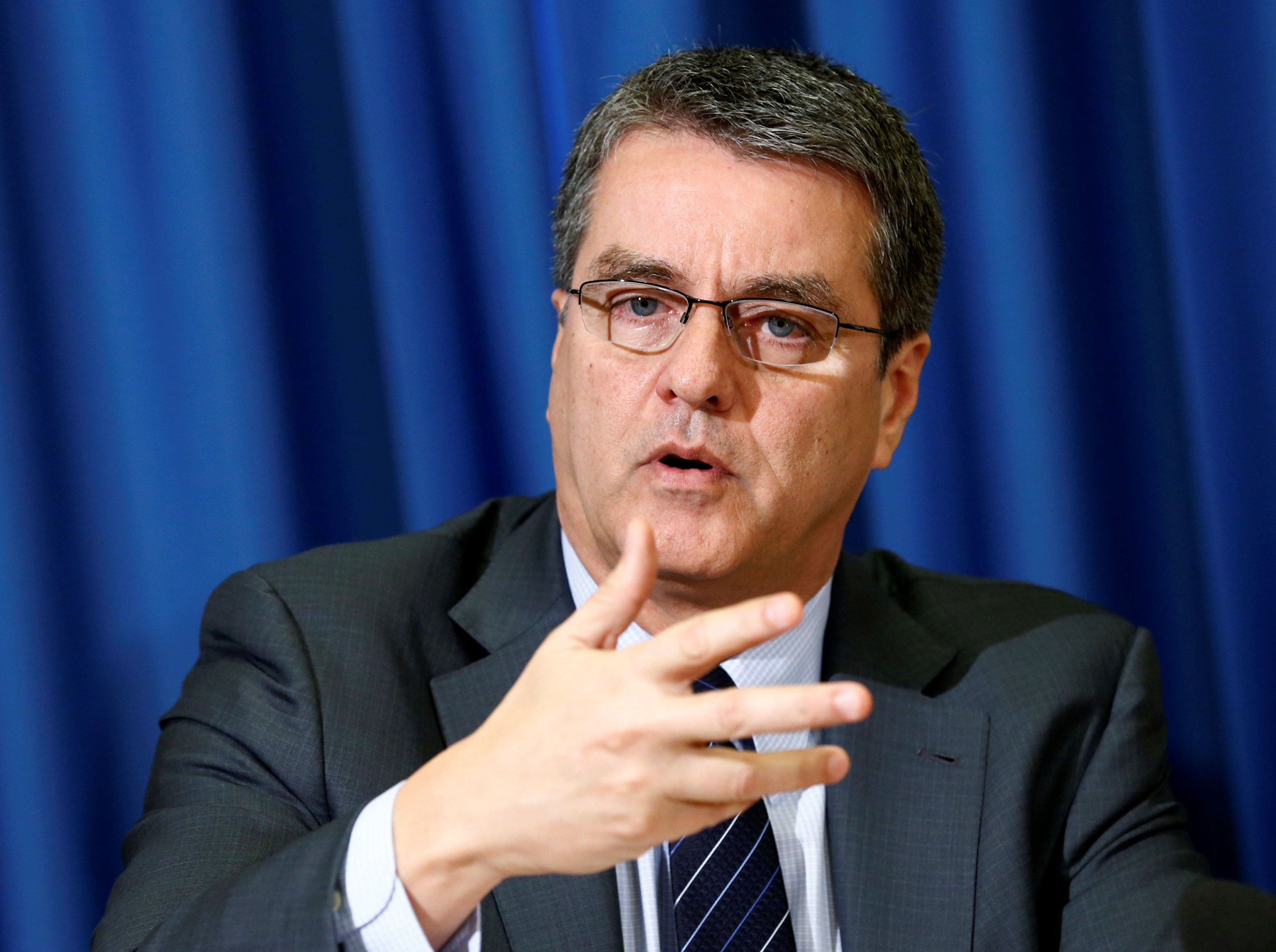 World Trade Organization chief Roberto Azevedo said President-elect Donald Trump hasn't indicated plans to withdraw the U.S.