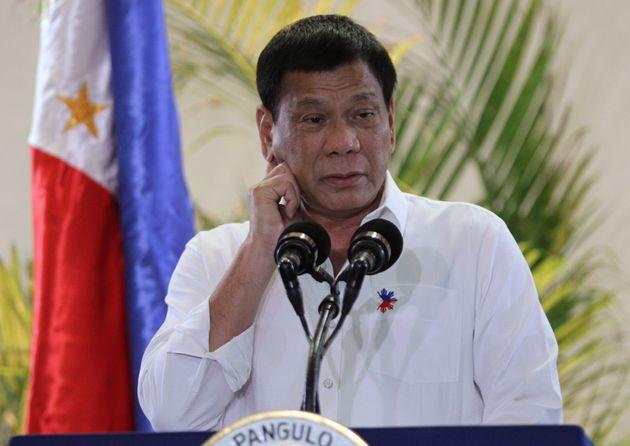 Rodrigo Duterte speaks to