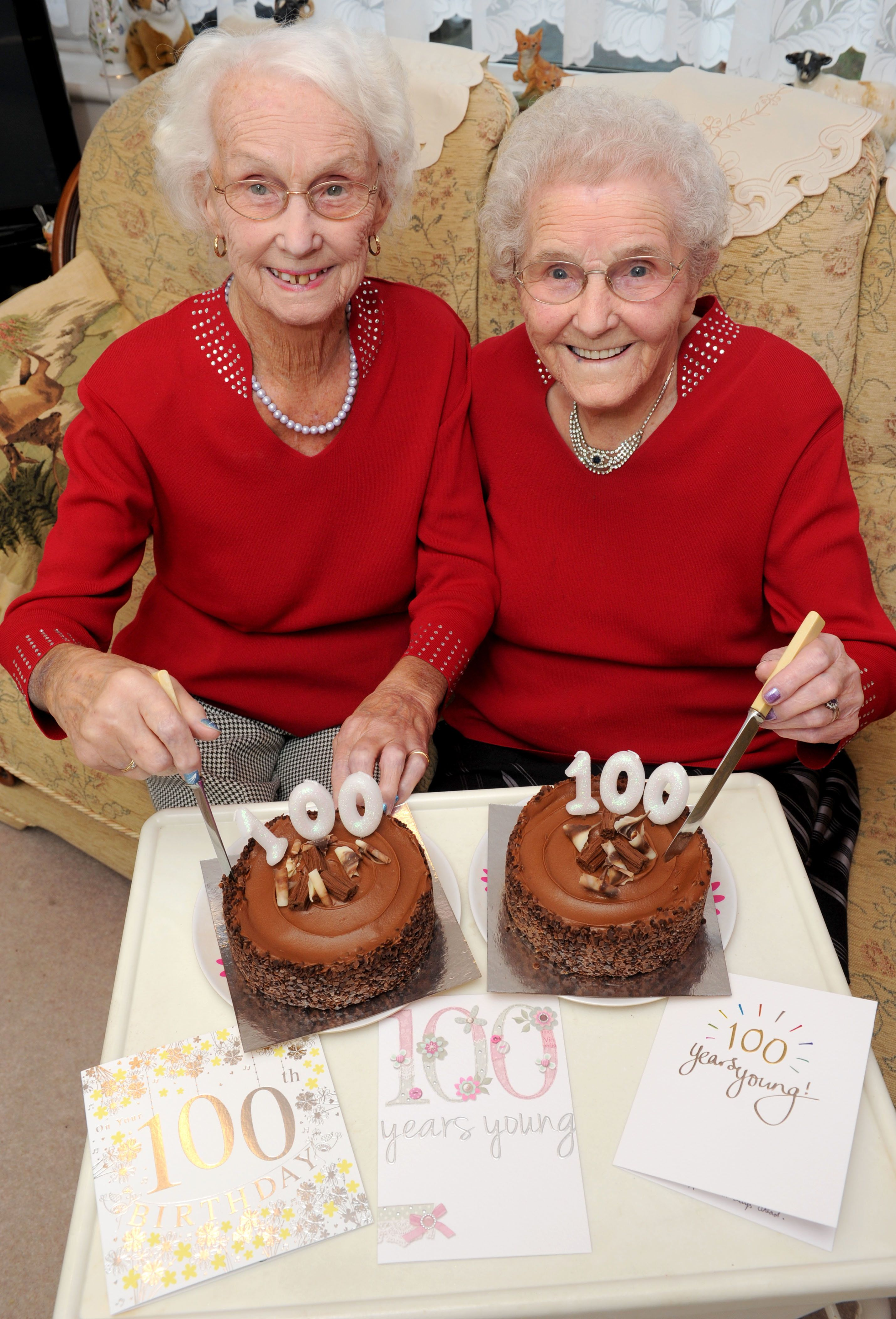 100-Year-Old Twins Celebrate Milestone Birthday And Reveal Secret To A Long