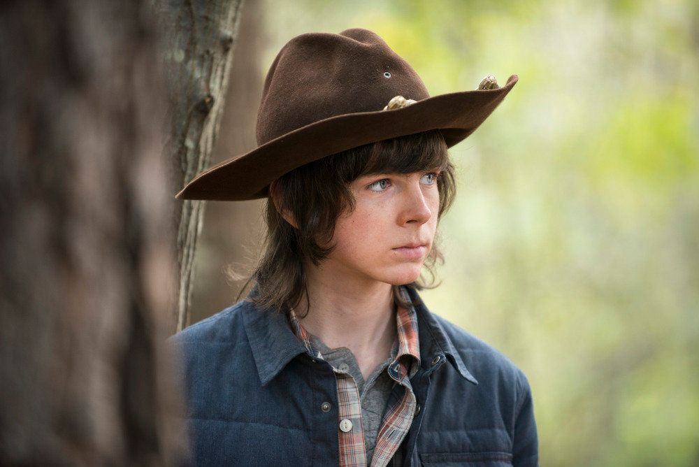 Chandler Riggs as Carl Grimes - The Walking Dead _ Season 5, Episode 15 - Photo Credit: Gene Page/AMC