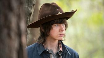 Chandler Riggs as Carl Grimes - The Walking Dead _ Season 5, Episode 15 - Photo Credit: Gene Page/AMC