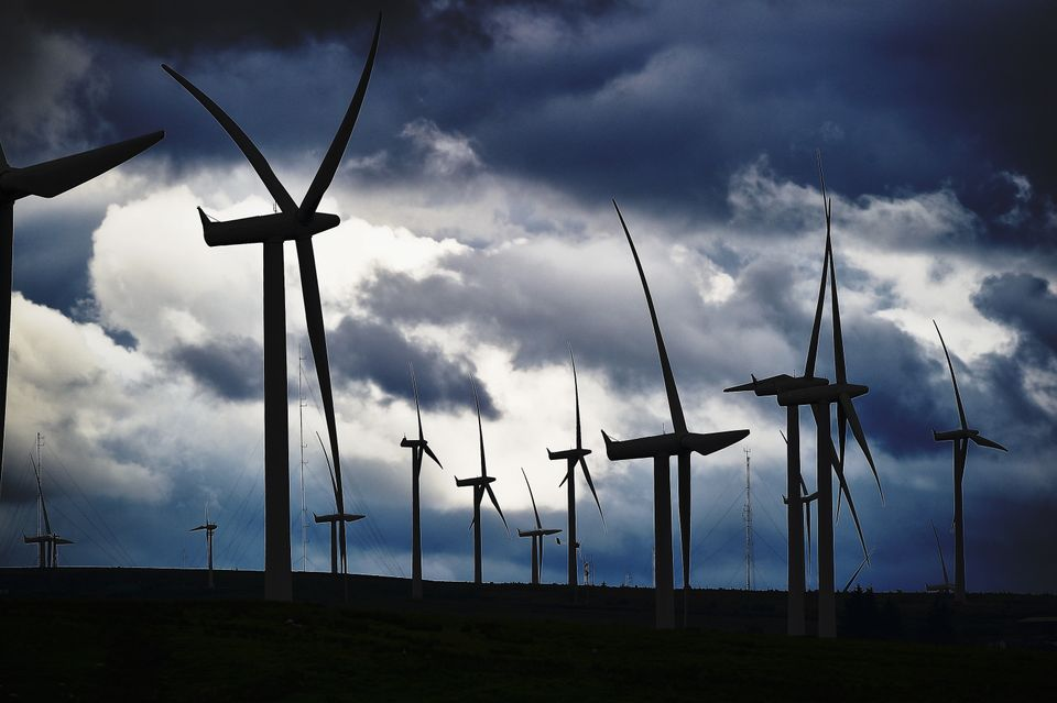 Wind farms in Scotland are built on and off
