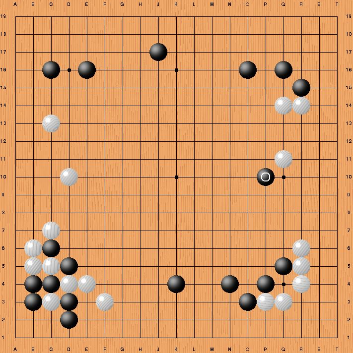 Move 37 by AlphaGo in Game Two (in black)