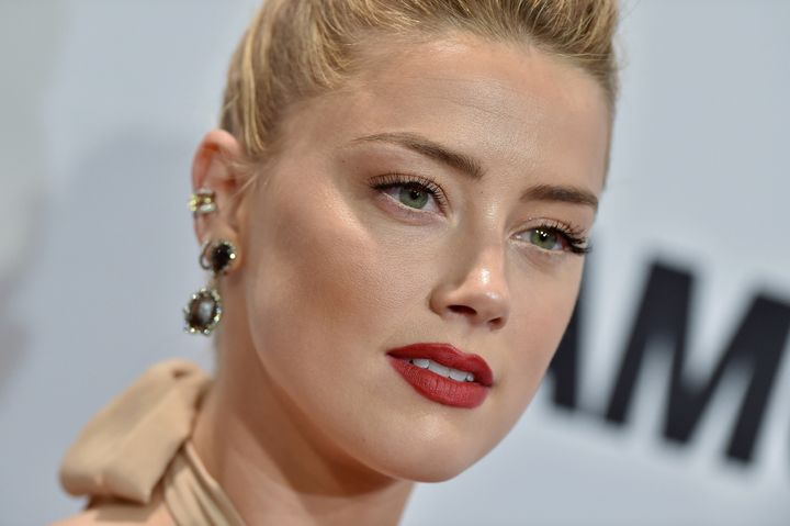 Amber Heard at the Glamour Women of the Year awards on Nov. 14.