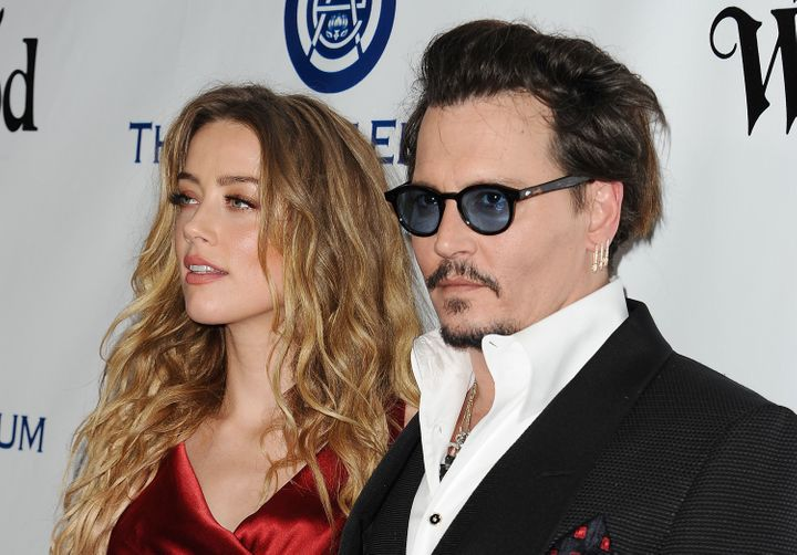 Depp and Heard attend an event together in January 2016.