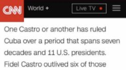 CNN Mistakenly Circulates Prewritten Fidel Castro Text.