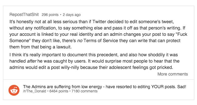 Reddit CEO Admits To Editing User Comments That Criticized