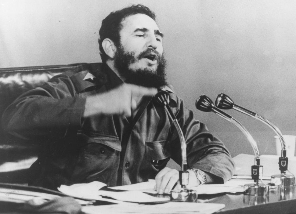 Castro speaks at a press conference in 1971.