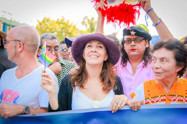 Mariela Castro at a rally in Cuba.