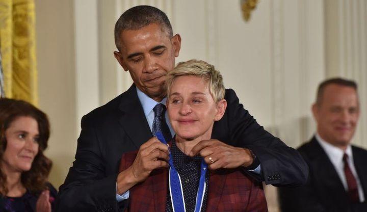 President Obama awards Ellen DeGeneres the Presidential Medal of Freedom