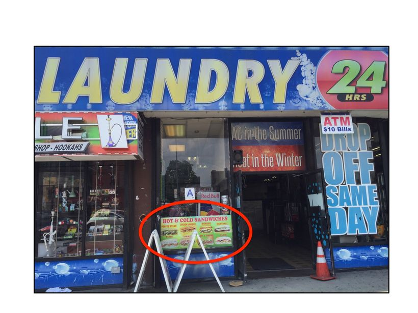 Full-service sandwich counter in a Bronx laundromat