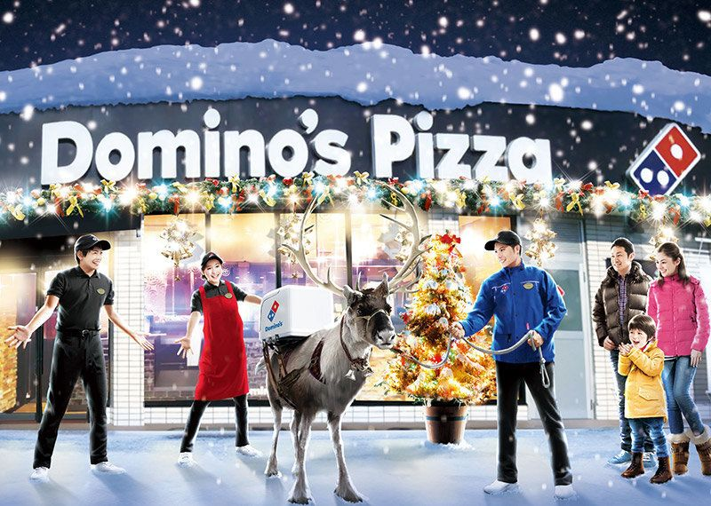 Dominos pizza reindeer