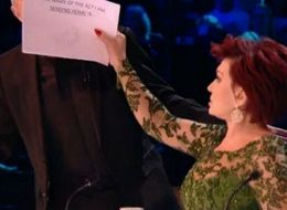 So It Turns Out Sharon Osbourne Is Using Cue Cards On The 'X Factor' Panel...