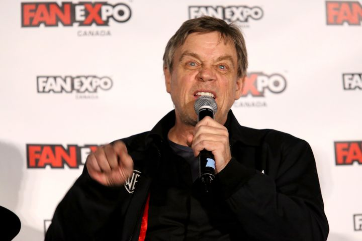 """Mark Hamill, pictured in September, says dissatisfied citizens should """"not retreat and hide under the covers."""""""