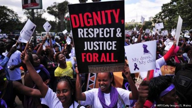 <strong>Rally against violence to women in 2014 in Nairobi, Kenya</strong>