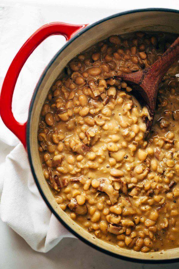 """<strong>Get the <a href=""""http://pinchofyum.com/homemade-brown-sugar-baked-beans"""" target=""""_blank"""">Homemade Brown Sugar Baked B"""