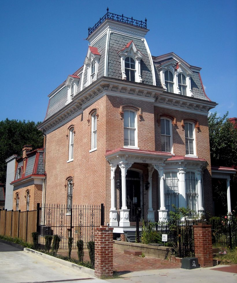 Second Empire Victorian style house