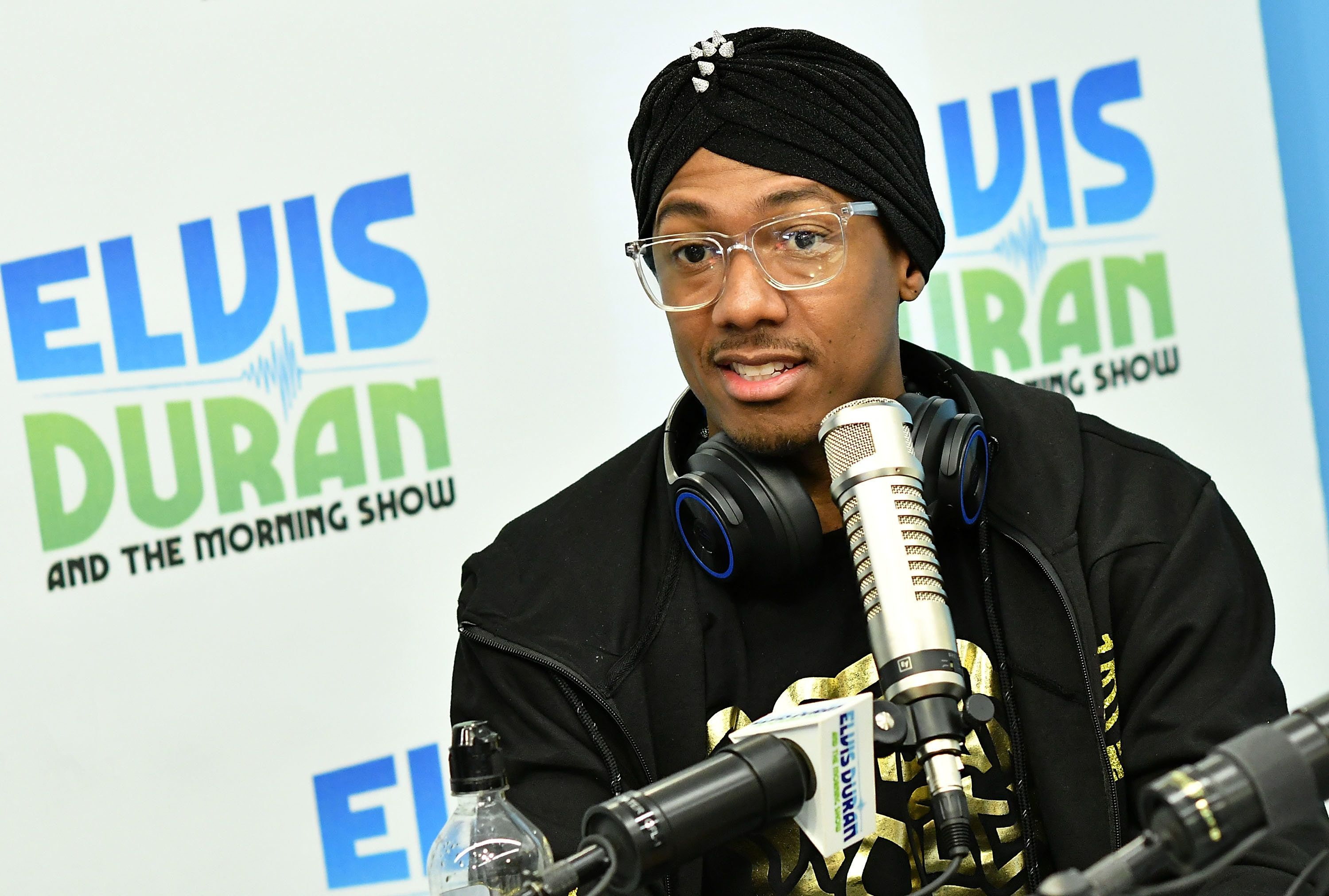 NEW YORK, NY - NOVEMBER 16:  (EXCLUSIVE COVERAGE) Rapper/TV personality Nick Cannon visits 'The Elvis Duran Z100 Morning Show' at Z100 Studio on November 16, 2016 in New York City.  (Photo by Slaven Vlasic/Getty Images)