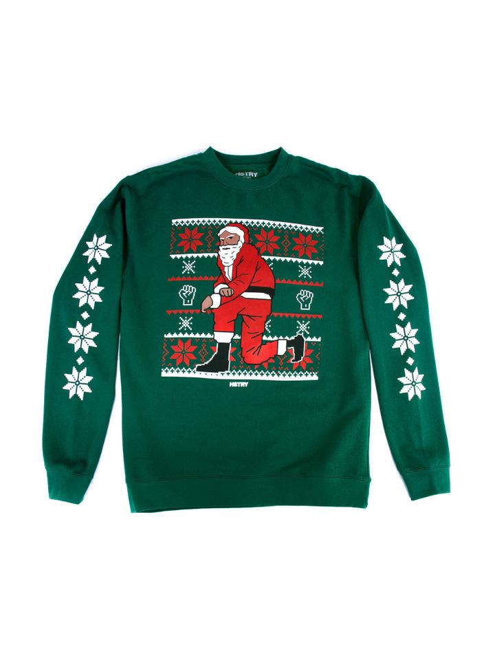 nas is selling black santa holiday sweaters in support of prison reform huffpost - Black Santa Christmas Sweater