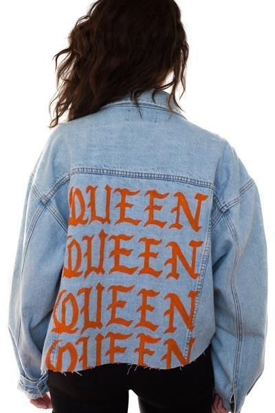 "$250, Millioneiress. <a href=""https://www.millioneiress.com/collections/lpk-denim/products/queen-denim-jacket"" target=""_blank"