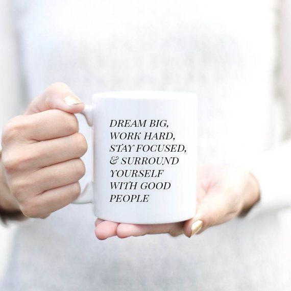 "$18, SmallGlow. <a href=""https://www.etsy.com/listing/269626955/dream-big-work-hard-inspirational-mug?ref=market"" target=""_bl"